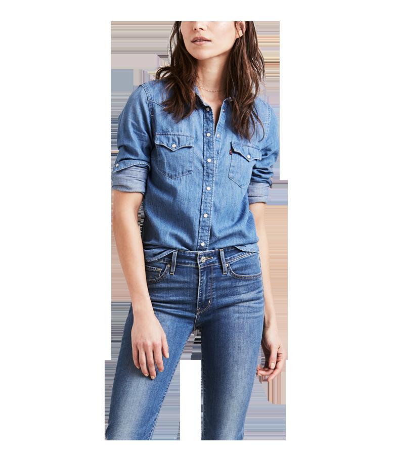 Jeanshemden & Blusen
