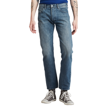 Levi's 501 Jeans Straight, mittelblau, T.B., Frontansicht