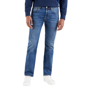 Levi's 501 Jeans straight, Ubbles, Mittelblau, Frontansicht