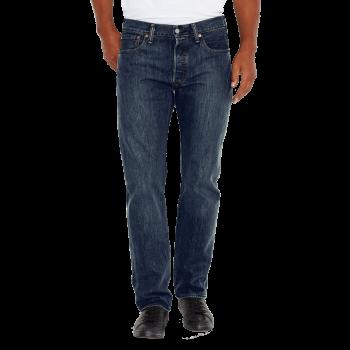 Levi's 501 Jeans Straight, délavé bleu moyen, Dark Clean, devant