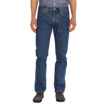 Levi's 501 Jeans Straight, blau, Stonewash, Frontansicht