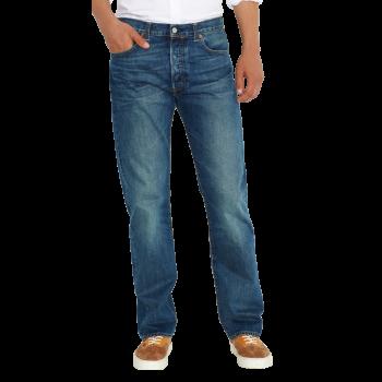 Levi's 501 Jeans Straight, mittelblau  verwaschen, Hook, Frontansicht