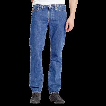 Levi's 514 Jeans Straight, bleu moyen, Stonewash, devant