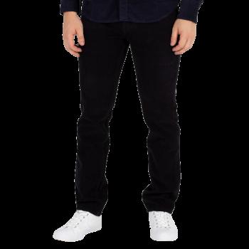 Levi's 511 Jeans Slim, velours côtelé noir, Manchester Black, devant