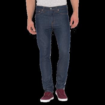 Levi's 510 Jeans Skinny, bleu foncé, Broken Raw, devant
