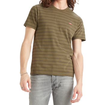 Levi's Original Tee, Olive Night / Mineral Black, Frontansicht