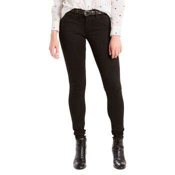 Levi's 710 Jeans Super Skinny, noir, Black Galaxy, devant