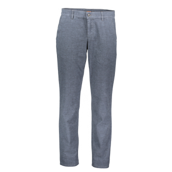 Alberto Lou Chino regular slim, bleu, Retro Dark Blue, devant