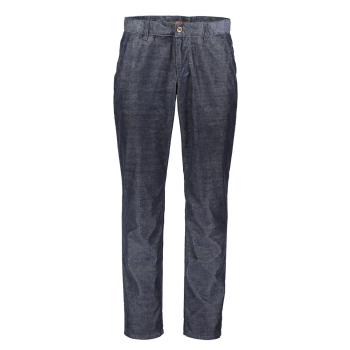 Alberto Lou Chino Hose regular slim, bleu foncé, Cord Dusty Blue, devant