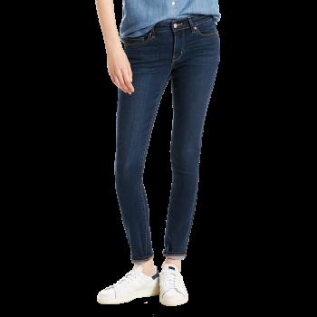 Levi's 711 Jeans Skinny, bleu foncé lavé, City Blues, devant