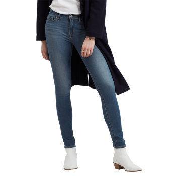 Levi's 711 Jeans Skinny, bleu moyen, Believe it or not, devant
