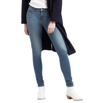 Levi's 711 Jeans Skinny, mittelblau, Believe it or not, Frontansicht