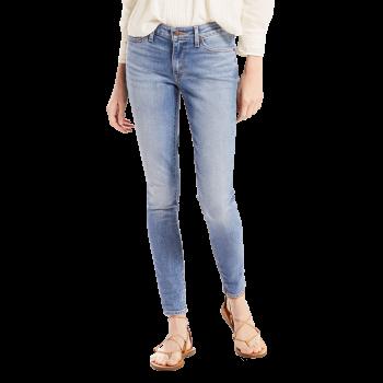 Levi's 711 Jeans Skinny, bleu pâle délavé, Miles to Go, devant