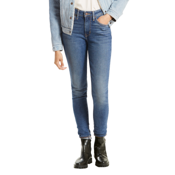 Levi's 721 Jeans High Rise Skinny, mittelblau, Fine Line, Frontansicht