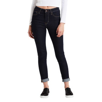 Levi's 721 Jeans High Rise Skinny, bleu foncé, To the Nine, devant