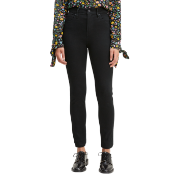 Levi's 721 Jeans High Rise Skinny, noir, Long Shot, devant