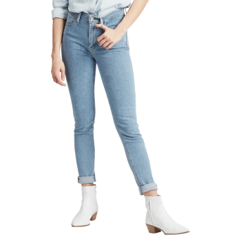 Levi's 721 Jeans High Rise Skinny, bleu clair, San Francisco Sunset, devant