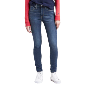 Levi's 721 Jeans High Rise Skinny, bleu moyen, Game On, devant