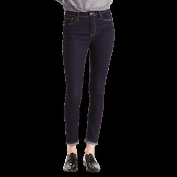 Levi's 721 Jeans High Rise Skinny, bleu foncé, Lone Wolf, devant