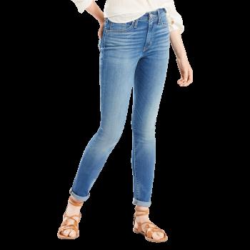 Levi's 721 Jeans High Rise Skinny, mittelblau verwaschen, Uptown Indigo, Frontansicht