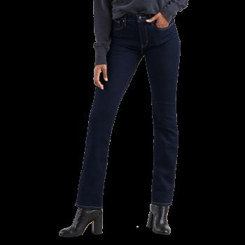 Levi's 724 High Rise Straight Jeans, bleu foncé non-délavé, To the Nine, devant