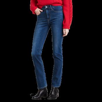 Levi's 724 High Rise Straight Jeans, mittelblau, dezent verwaschen, Decoy, Frontansicht