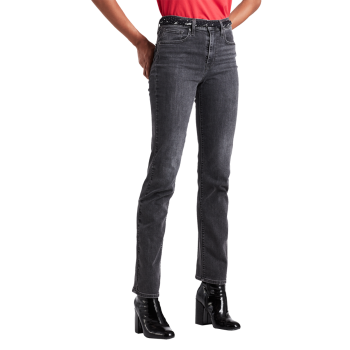 Levi's 724 High Rise Straight Jeans, gris, Its all Good, devant