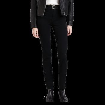 Levi's Jeans 724 High Rise Straight, Black, devant