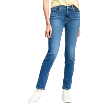 Levi's 712 Jeans Slim, bleu moyen, Bogota Paris Cheers, devant