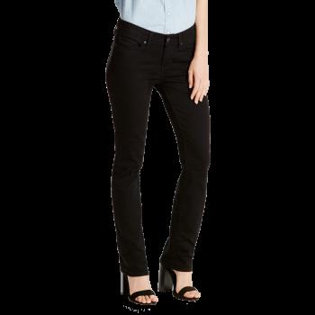 Levi's 712 Jeans Slim, schwarz, Black Sheep, Frontansicht