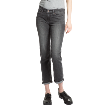 Levi's 712 Jeans Slim, dunkelgrau verwaschen,  Burnt Ash, Frontansicht