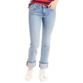 Levi's 715 Jeans Bootcut, délavé bleu pâle, Tropical Daze, devant