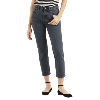 Levi's 501® Crop Jeans, dunkelgrau, Dancing in the Dark, Frontansicht