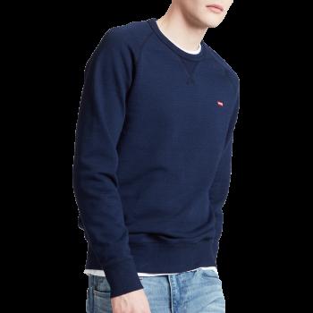 Levi's Rundhals Pullover, dunkelblau, Indigo, Frontansicht
