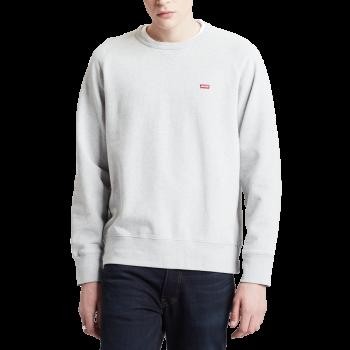 Levi's Rundhals Pullover, hellgrau, Medium Grey, Frontansicht