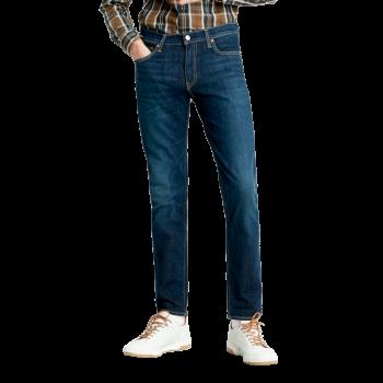 Levi's 511 Jeans Slim, bleu foncé délavé, Biologia, devant