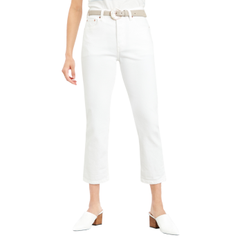 Levi's 501® Crop Jeans, White, Frontansicht