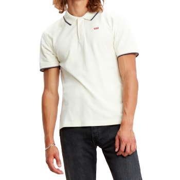 Levi's Batwing Polo, Marshmallow, weiss, Frontansicht