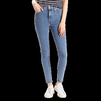 Levi's Mile High Super Skinny Jeans, bleu clair légèrement délavé, Cast Away, devant