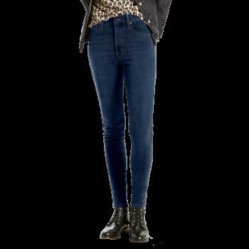 Levi's Mile High Super Skinny Jeans, bleu foncé légèrement délavé, Jet Setter, Devant