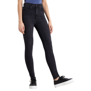 Levi's Mile High Super Skinny Jeans, Black Haze, Frontansicht