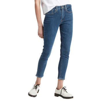 Levi's 721 Jeans High Rise Skinny Ankle, mittelblau, Los Angeles, Frontansicht