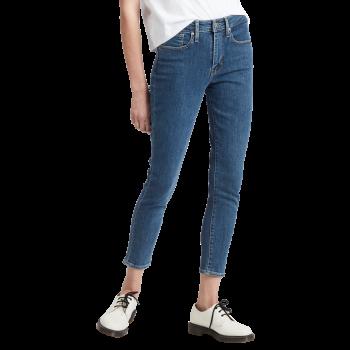 Levi's 721 Jeans High Rise Skinny Ankle, bleu moyen, Los Angeles, devant