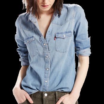 Levi's Jeanshemd, Standard Fit, hellblau, Seascape Light, Frontansicht