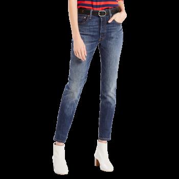 Levi's 501® Skinny Jeans, mittelblau verwaschen, Supercharger, Frontansicht