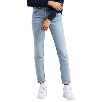Levi's 501® Skinny Jeans, hellblau, Love Fool, Frontansicht