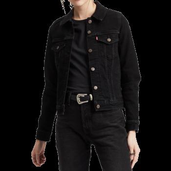 Veste en jeans Levi's Trucker, noir, Black Lilly, devant