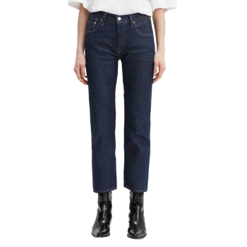Levi's 501® Crop Jeans, dunkelblau, Raw Indigo, Frontansicht