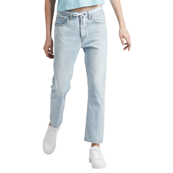 Levi's 501® Crop Jeans, hellblau, Montgomery Baked, Frontansicht