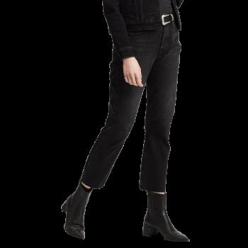 Levi's 501® Crop Jeans, schwarz, Black Heart, Frontansicht